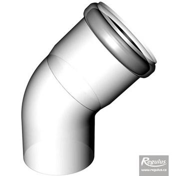 odkouření Regulus - koleno 45° - průměr 80 mm