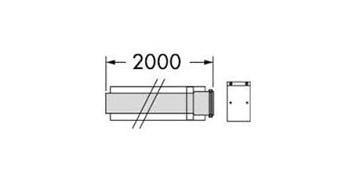 Vaillant odkouření prodlužovací kus 2,0 m 60/100 (303905)