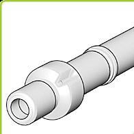 odkouření Brilon - střešní koncovka DN 125/80 mm, PP cihlová, prodloužená délka