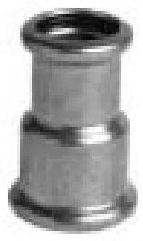 P6240 redukce 22x15 -  měděná press tvarovka - topení ixi