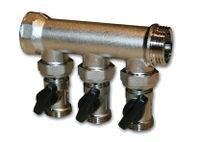 """IVAR - rozdělovač s kulovými uzávěry IVAR.KIT CS 205 N - 4 - 1"""""""