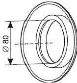 odkouření Protherm silikonová růžice 80 mm (SR2)