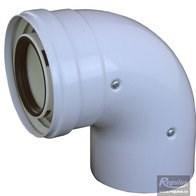 odkouření kondenzační Regulus - koleno 90° 60/100 PP/plech