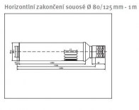 odkouření Protherm horizontální zakončení souosé 80/125, 1 m, (T25lZ-1000)