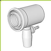 odkouření Brilon - Přímý T-kus s odvodem kondenzátu DN 125/80 mm