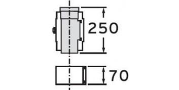 Vaillant odkouření revizní otvor 0,25 m, 80/125 (303218)