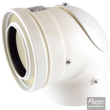 odkouření Regulus - koleno s kontrolním otvorem, 80/125 PP/PP