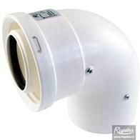 odkouření kondenzační Regulus - koleno 90° 60/100 PP/PP
