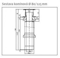 odkouření Protherm sestava komínová 80/125, (S25l)