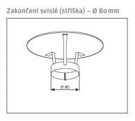 odkouření Protherm zakončení svislé - střížka - 80 mm (SM2)