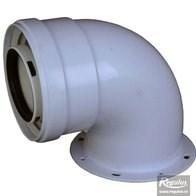 odkouření kondenzační Regulus - koleno s přírubou 60/100 PP/plech