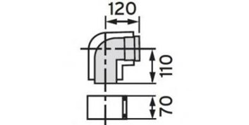 Vaillant odkouření koleno 87° 80/125 (303210)