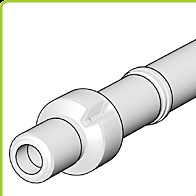 odkouření Brilon - střešní koncovka DN 160/110 mm, PP černá, prodloužená délka