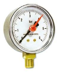IVAR.MR 50 manometr radiální 50 mm - 0-6 bar (MR50006BB)