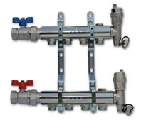 """IVAR - sestava rozdělovač / sběrač pro otopná tělesa IVAR.CS 501 ND -4- 5/4""""xEK"""