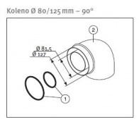 odkouření Protherm koleno souosé 80/125, 90° (K21M)