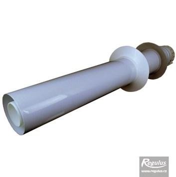 odkouření Regulus - trubka do zdi 0,86 m, 60/100 PP/plech