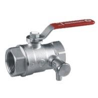 """Giacomini kulový kohout s vypouštěním chromovaný R250DS páka 6/4"""" - voda"""