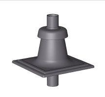 odkouření Brilon - poklop komínový DN125/80 mm černý/plast