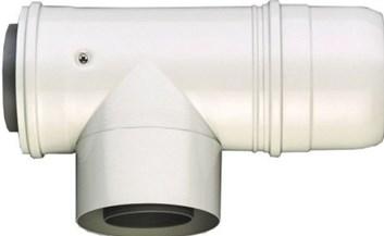 JUNKERS odtah AZB 609/1 - revizní T-kus 90° 80/125 (7719002769)