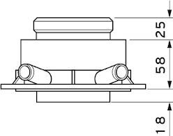 Vaillant odkouření připojovací adaptér pro systémy 80/125 (0020147469)