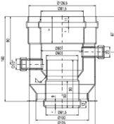 odkouření Protherm redukce s přírubou 80/125, (DZ2)
