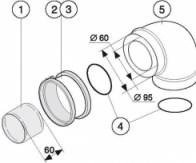 odkouření Protherm koleno 90° - 60/100 (K1D)