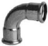 P6002 oblouk 90° 15 -  měděná press tvarovka - topení ixi