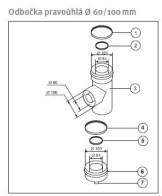 odkouření Protherm odbočka pravoúhlá 60/100 mm s víkem, (O1)