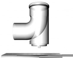 odkouření kondenzační Regulus - koleno 90° 80 PPH-A patní do komína včetně držáku