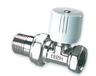 """IVAR - radiátorový ventil přímý 3/8"""" s přednastavením IVAR.VD 001 ECO"""