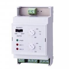 RJ403 diferenční elektronický termostat na DIN lištu