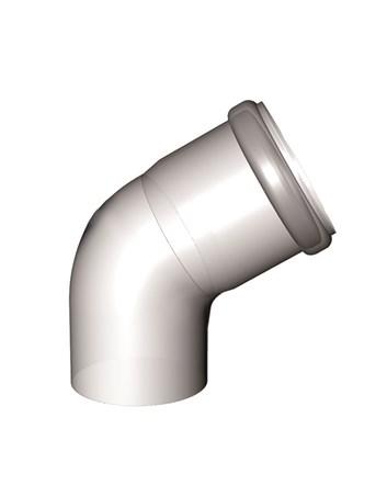 odkouření kondenzační - koleno 60° DN 125 mm, Almeva STARR