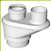odkouření Brilon - vnitřní spalinový systém - biaxiální adaptér 2x DN 80 mm