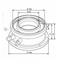 JUNKERS odtah AZB 931 - připojovací adaptér 80/125 - (7716780184)