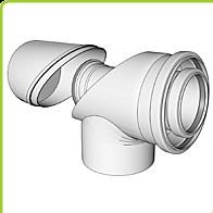 odkouření Brilon - koleno s kontrolními otvory DN 125/80 mm