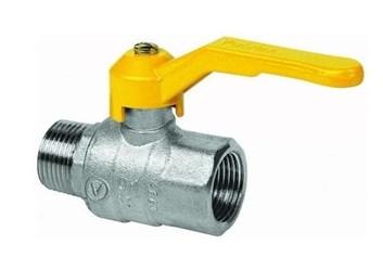 """kulový kohout plyn 1"""" - páka, vnitřní-vnější závity (AR50510)"""