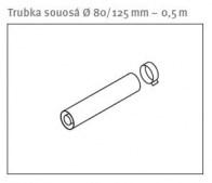 odkouření Protherm trubka souosá 80/125 mm - 0,5 m (0020257019)
