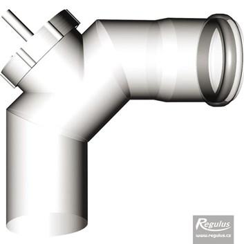 odkouření Regulus - koleno s kontrolním otvorem - průměr 80 mm