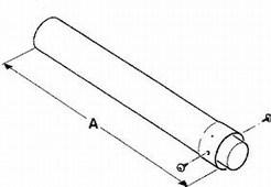 JUNKERS odtah AZB 606/1 - prodloužení 1000 mm 80/125 - (7719002765)