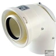 odkouření kondenzační Regulus - koleno 90° s kontrolním otvorem 60/100 PP/PP