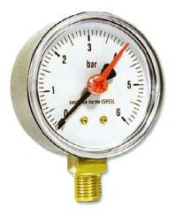 IVAR.MR 63 manometr radiální 63 mm - 0-6 bar