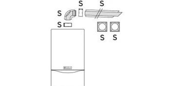 Vaillant odkouření vodorovné 1 m, 80/125 (303209)
