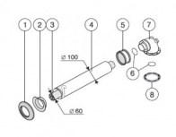 odkouření Protherm sestava vodorovná 60/100 mm, 1 m (S5D-1000) - plyn. TURBO kotle