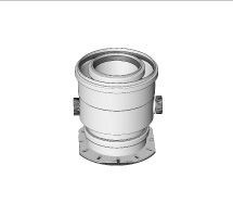 odkouření Brilon - kotlový adaptér pro koaxiální připojení DN125/80 mm 90 mm