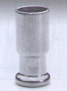 měděná press plyn. tvarovka PG10243 redukce 22x15 axi