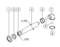 odkouření Protherm sestava vodor. 60/100 mm - 0,75 m - kond. kotle (0010031041)