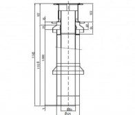 odkouření Protherm sestava komínová 80 mm - 1 m (S4) - plyn. TURBO kotle