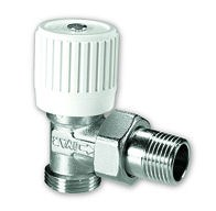 "IVAR - radiátorový ventil rohový s přednastavením IVAR.VS 006 ECO - EK x 1/2"""