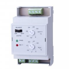 RJ402 diferenční elektronický termostat na DIN lištu